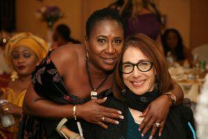 With Aminata Sesay at the Orphan FEED Fundraiser, 2017.