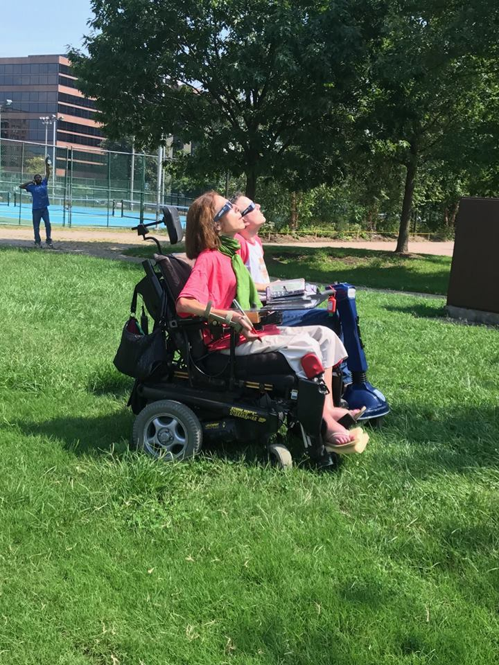 Viewing the eclipse in Arlington, 2017.