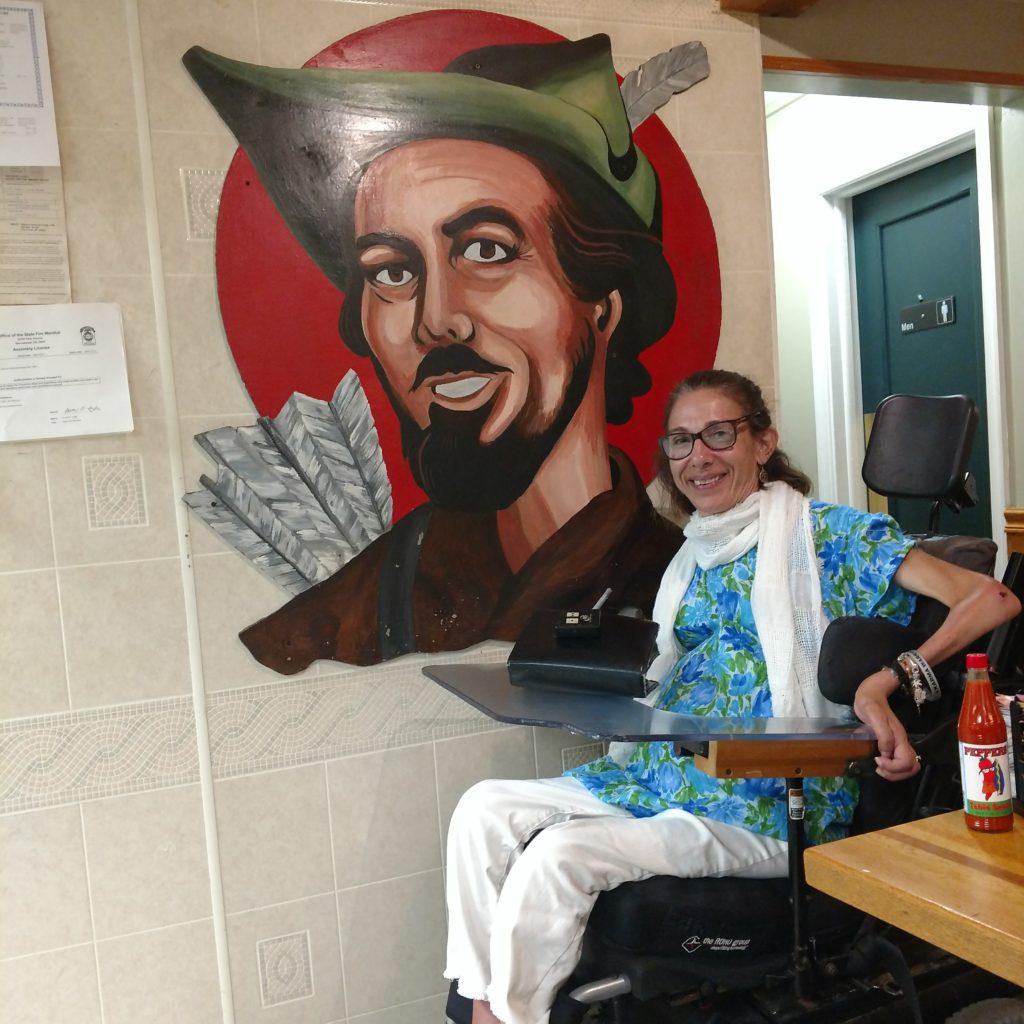 Sheri at Robin Hood restaurant, 2017.