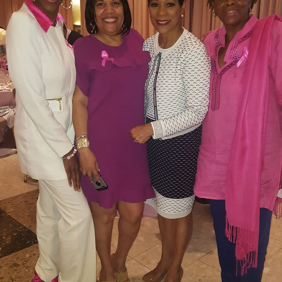 Friends with Andrea Roane,  WUSA-9 former newscaster and breast cancer survivor, 10-18.