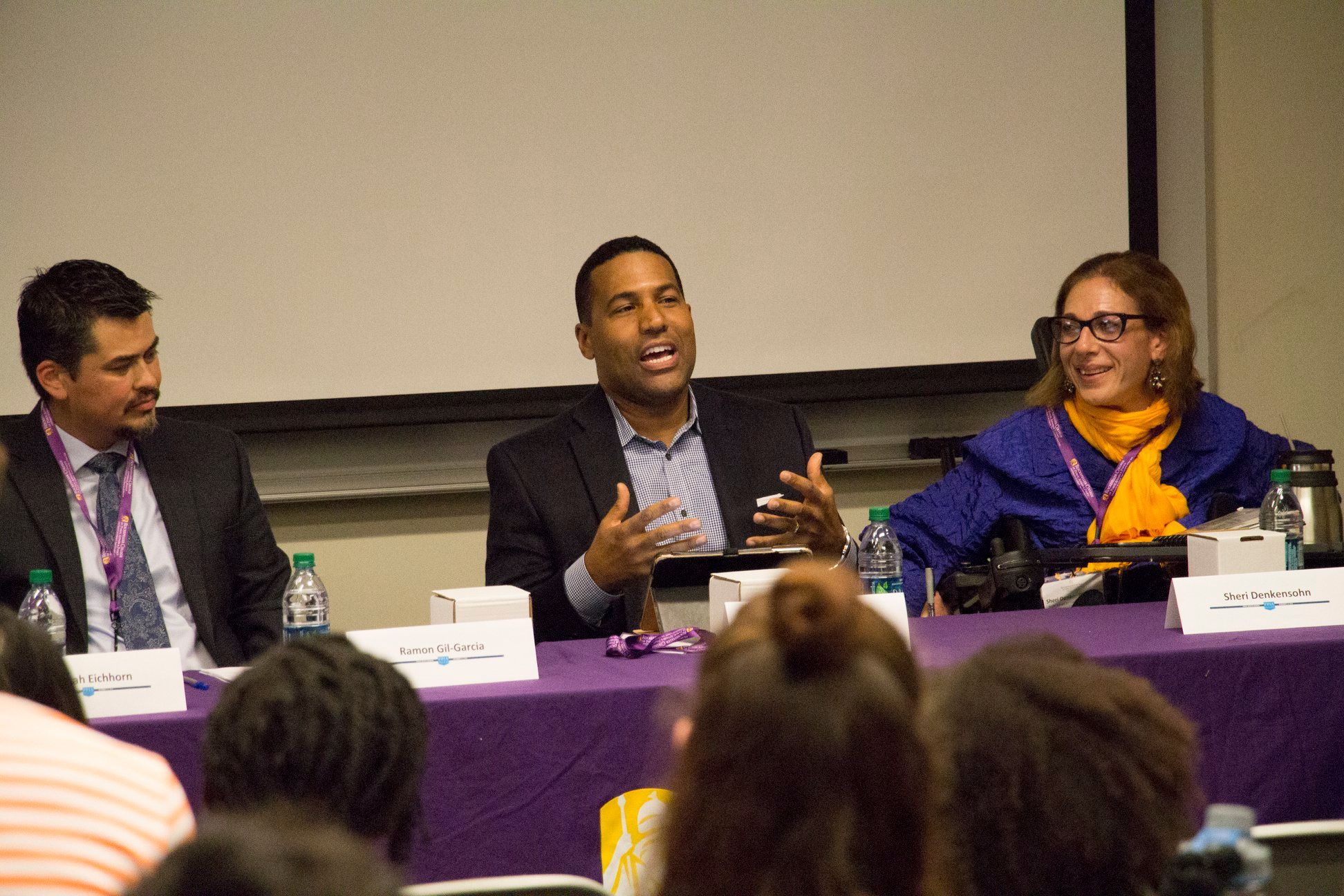 Sheri serving on a panel at the University of Albany with CNN  Legal Analyst, Joey Jackson, 11-18.