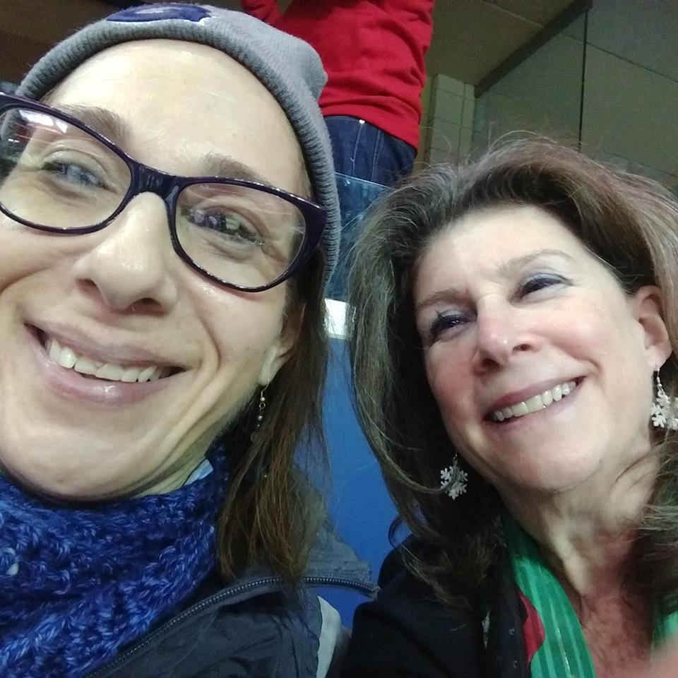 Bumping into great friend Martha Duggan at a Georgetown men's basketball game, 12-18.