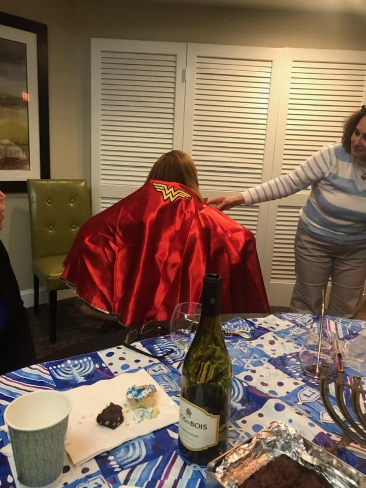 Wonder Woman Cape gifted from book club, 12-18.
