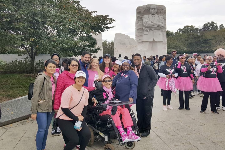 Group photo near MLK Monument, 10-18.
