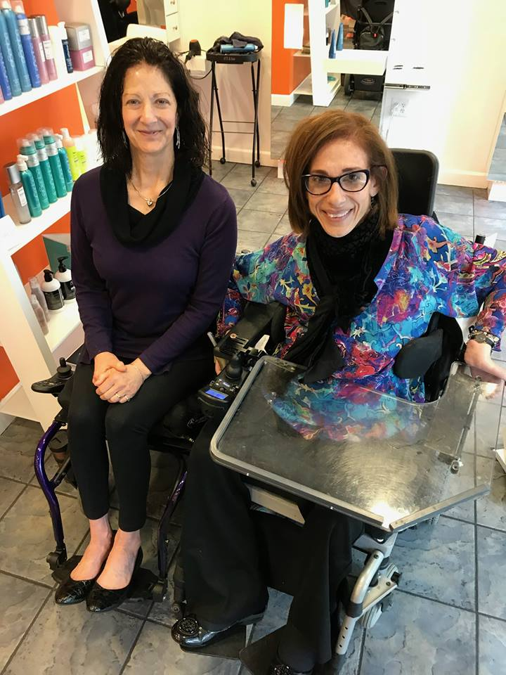 Rosemary Ciotti and Sheri getting their hair done at VoStyle. We love accessible salons, 2018.