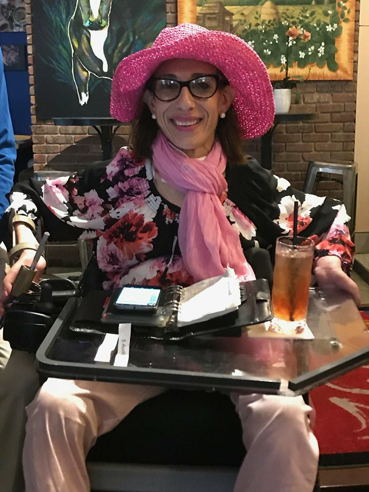 Sheri getting set to watch the 2018 Kentucky Derby (2018)