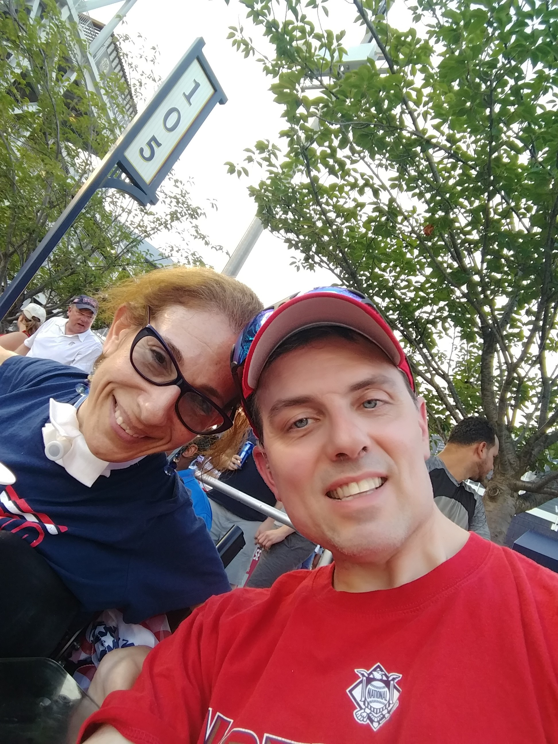 Happy on Wheels at a Nationals game, 2018.