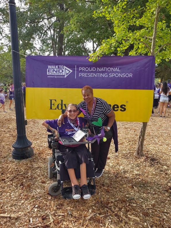 Sheri and her assistant Fatima at the Alzheimer's walk in Rehoboth Beach, DE, 9-19.