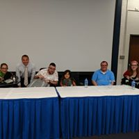 "Sheri on a panel on ""Sex and Disability"" at the GW Medical School, second year medical students, 8-19."