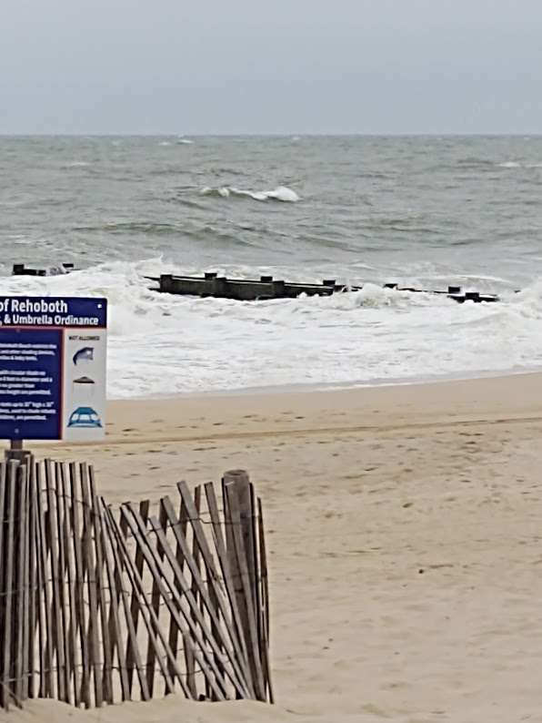 Remnants of Hurricane Dorian gave Rehoboth some rough waves, strong rip currents, and strong winds, but not much else, 9-19.