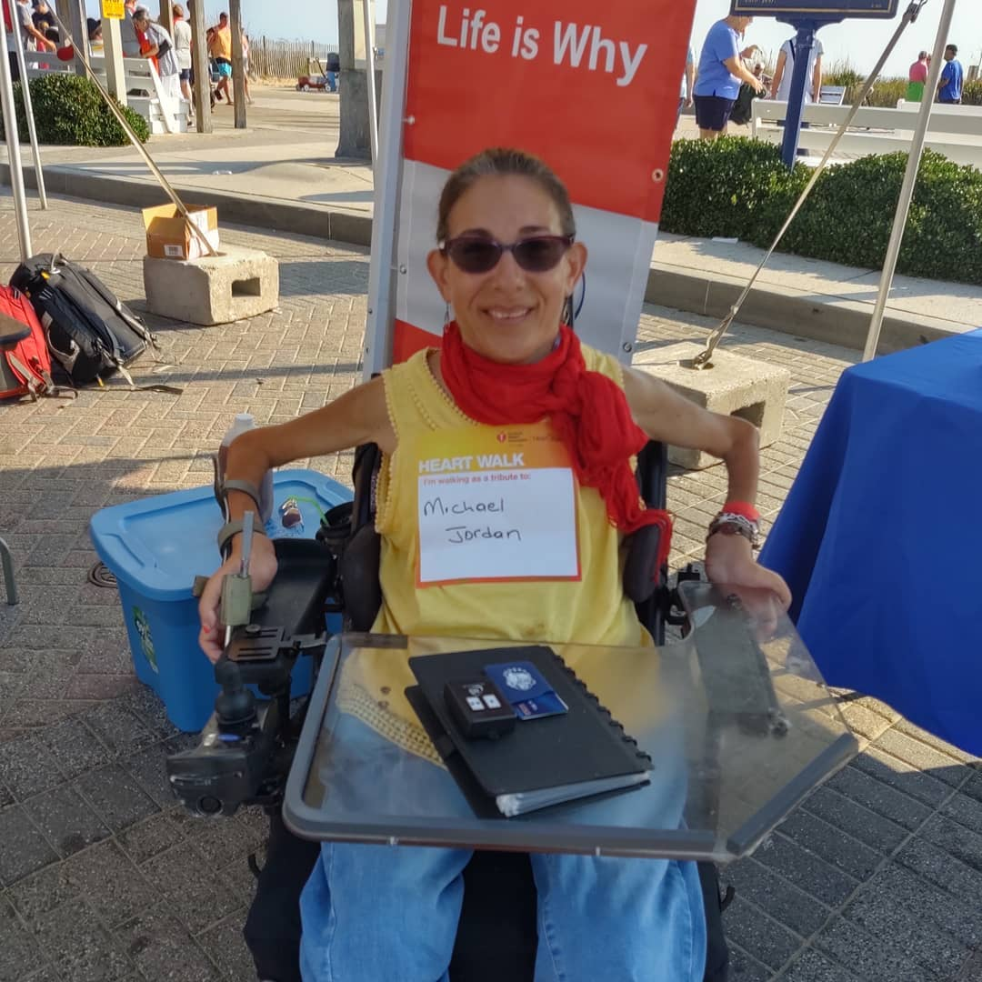 Sheri participating in the annual American Heart Association walk in honor of a dear family friend who recently passed away as a result of a heart attack, 9-19.