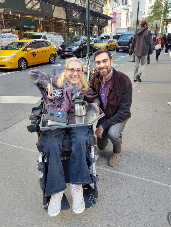 Sheri made time to meet with her nephew Zach while in Manhattan, 11-19.