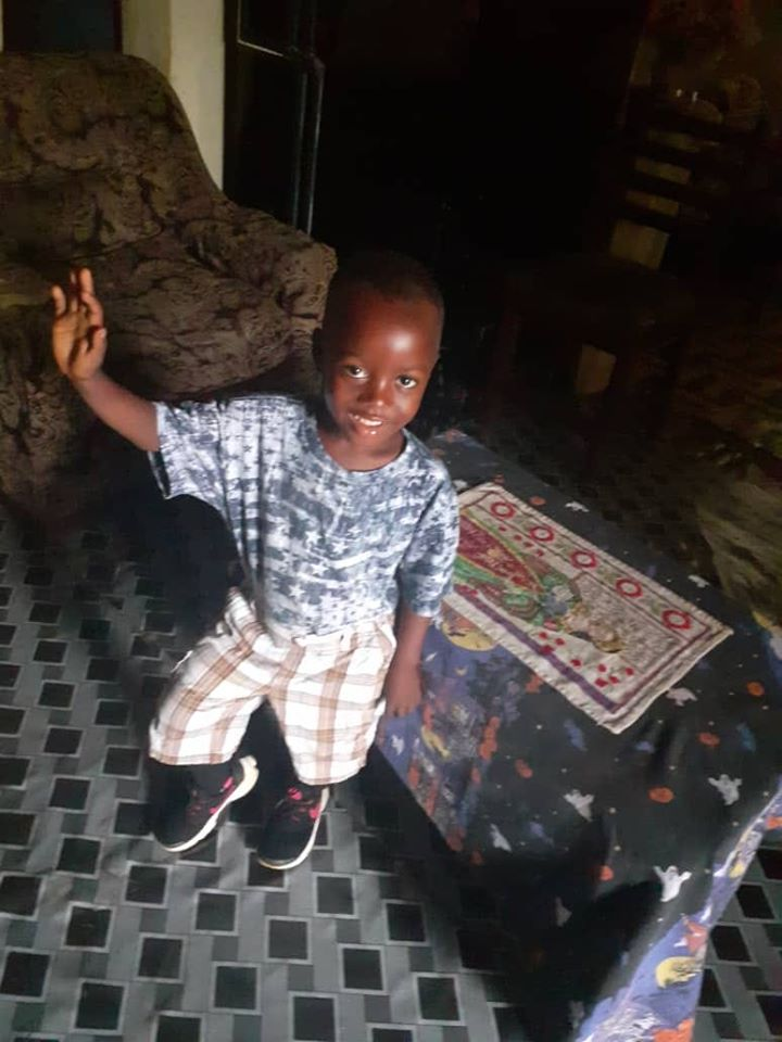 "Happy on Wheels' ""adopted"" son Charlie (in Sierra Leone) is really growing, 11-19"