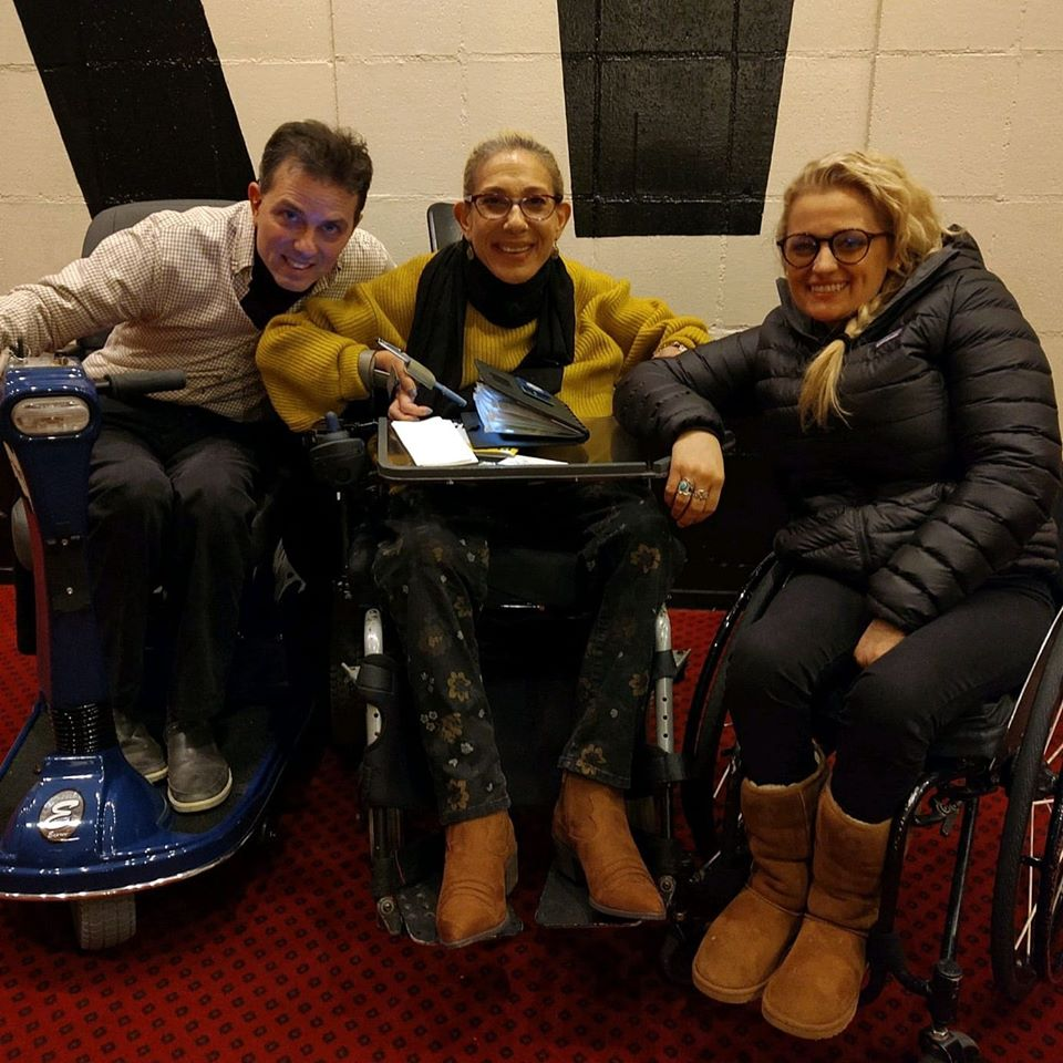 Happy on Wheels got to meet Tony winner Ali Stroker after her performance in Oklahoma on Broadway, 11-19.