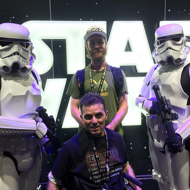 Tony, his nephew, and two Storm Troopers at San Diego Comic-Con, 7-19.