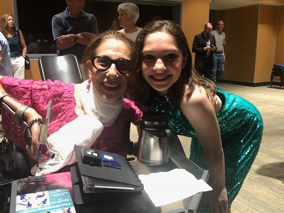 Sheri and Ava Feinberg Halverson after her wonderful performance in the production of The Wedding Singer at the Vienna Community Center, 8-19.