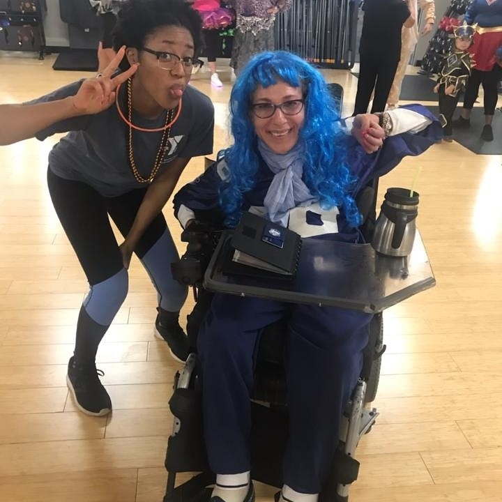 Halloween fun at Zumba with UAlbany Semester in Washington mentee, 10-19.