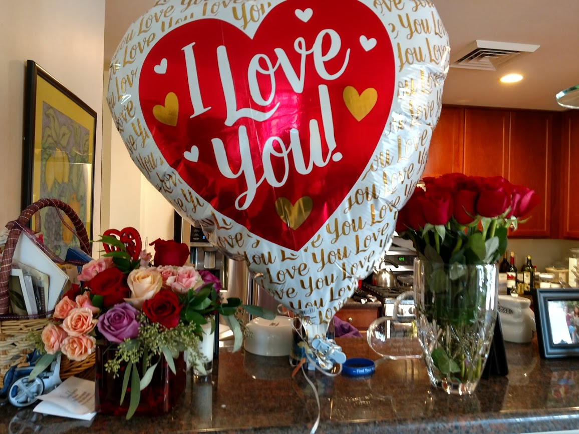 Lots of love filling our condo for Valentine's Day, 2-19.