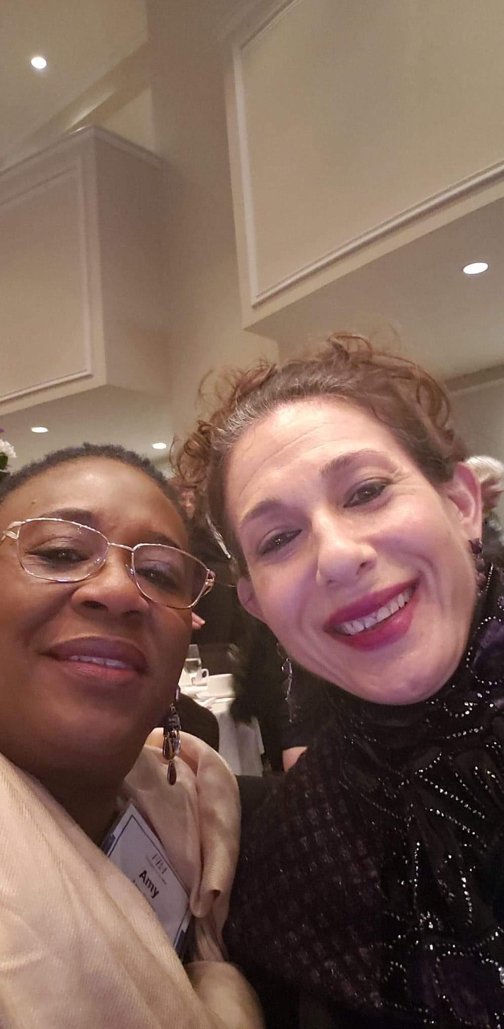 Sheri with one of her aides, Aminata Sesay, at the Winter Meeting of the Virginia Bar Association, 1-19.