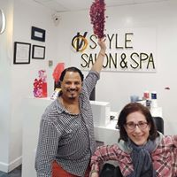 Sheri and her hairstylist Redoanue at VoStyle Salon after getting a new hairdo for the Sucker for Love storytelling show on Valentine's Day, 2-20.