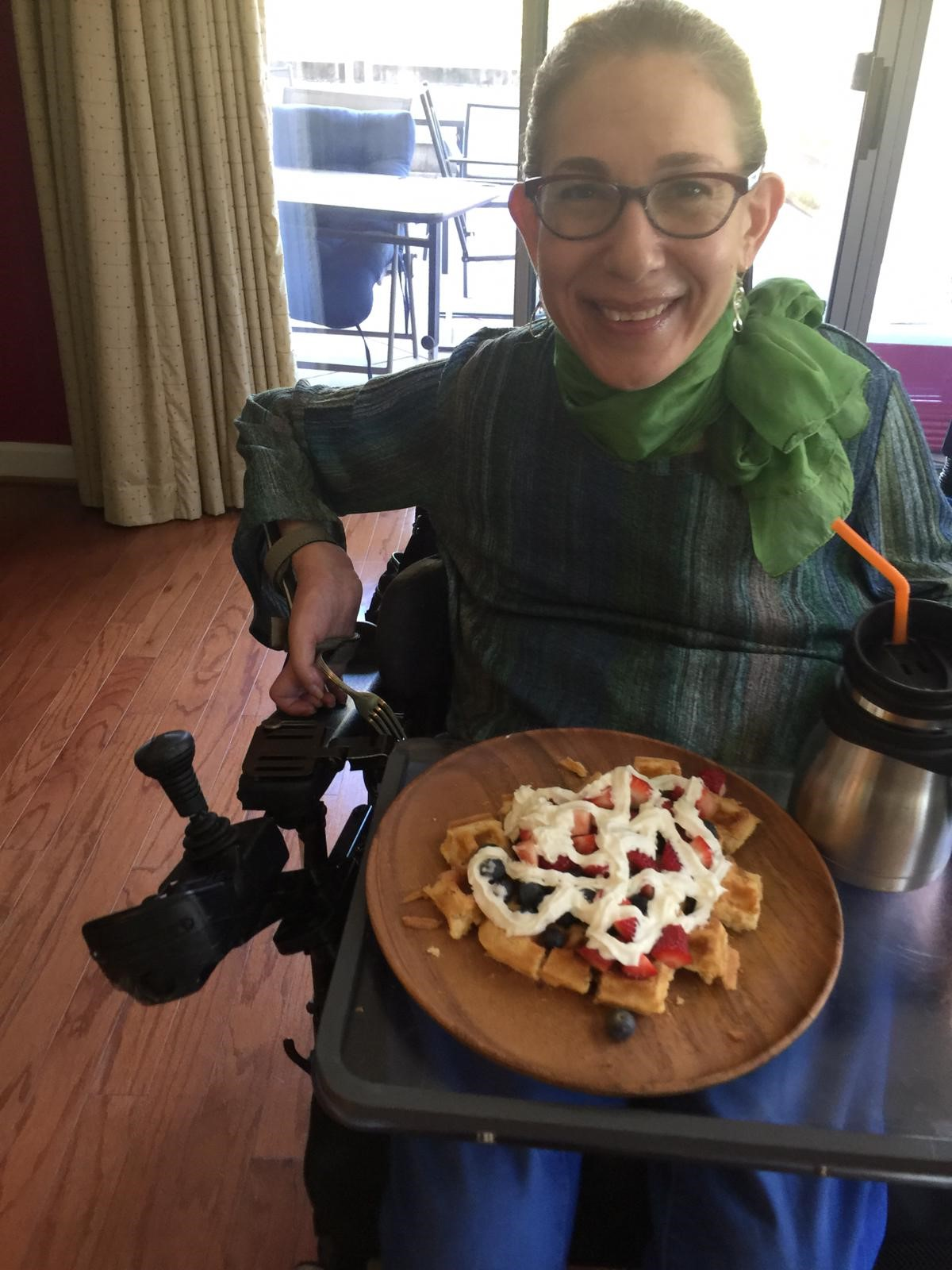 Sheri's Mother's Day waffle extraordinaire, 5-20.