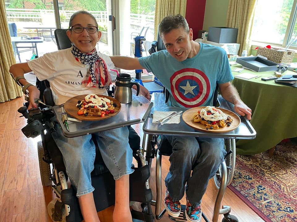 Red, white, and blue waffles as well as outfits for the Fourth of July, 7-20.
