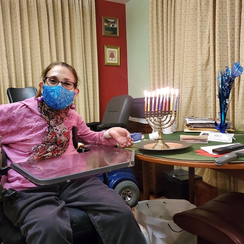 Celebrating the 8th night of Hanukkah pandemic style, 12-20.