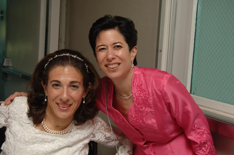 Sheri with her sister Debra at Sheri & Tony's wedding in 2005. Debra passed away in mid-September after a battle with cancer, 9-21.