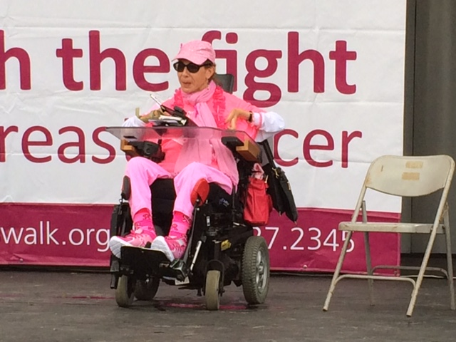 Speaking at the Breast Cancer Walk, 2016