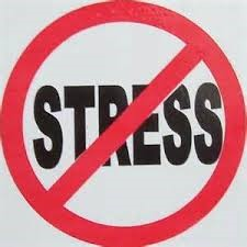 "Signwith the word ""stress"" crossed out."