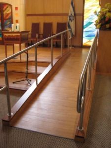 A ramp in a NJ synagogue.