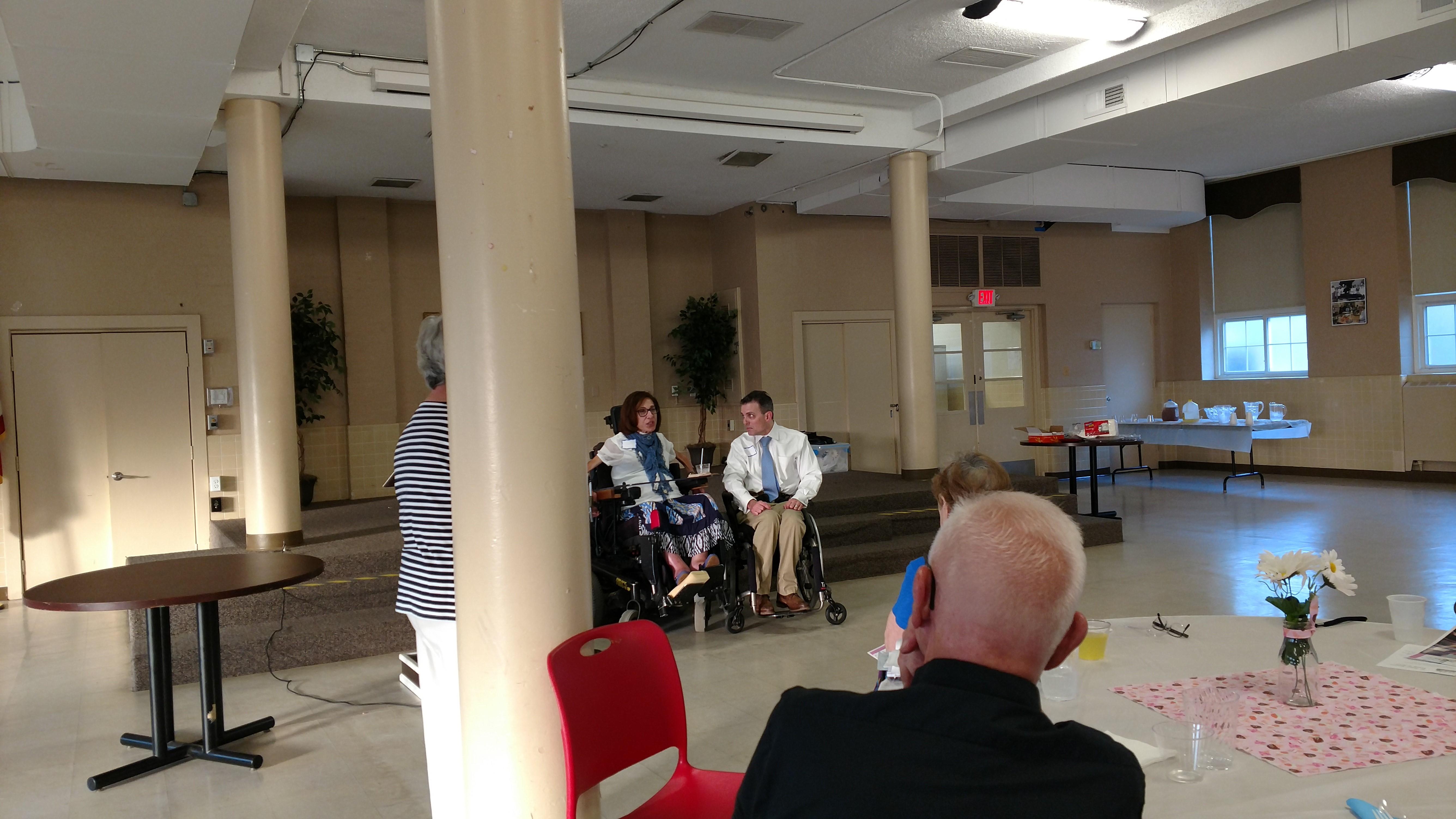 Speaking to the St. James Seniors