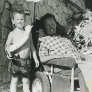 The real-life Robin Cavendish and his son, Jonathan
