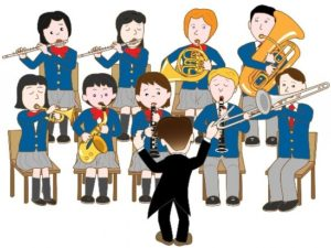 Graphic of a band teacher