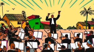 Graphic of an orchestra