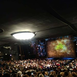 View from out seats at Wicked