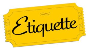 The word etiquette