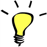 An idea light bulb lighting up