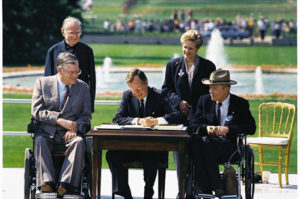 President H.W. Bush signing the ADA in 1990.