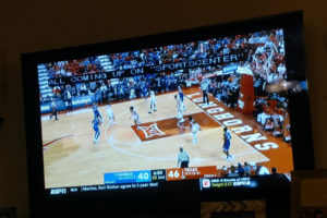College basketball on TV