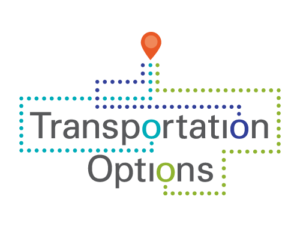 "Graphic tat says ""Transportation Options"""