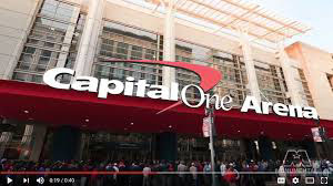 Outside picture of Capitol One Arena in Washington, DC.