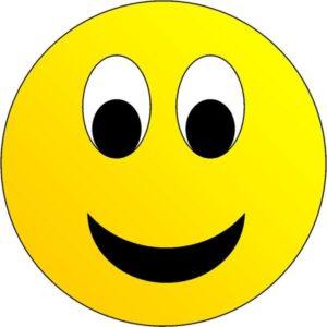 Happy face emoticon.